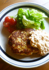 鶏ハンバーグ♡春色タルタルソース♪