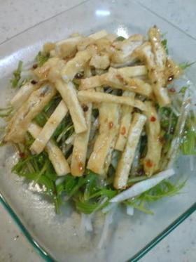 水菜と大根のハリハリ~なサラダ