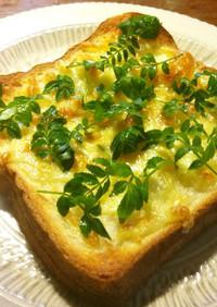 木の芽(山椒の葉)チーズトースト