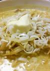 味噌カレー牛乳ラーメンのようなラーメン。