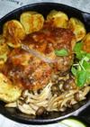 イシスキで豚ロースの厚切り肉ステーキ