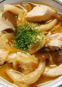 ランチに♪もやしときのこ鶏ささみのスープ