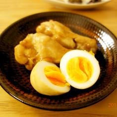 我が家で人気・鶏手羽元と卵の甘辛煮♪