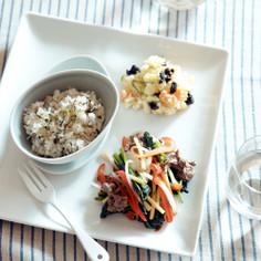 牛肉と彩り野菜の鉄わん炒めのセット