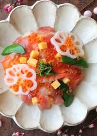液体塩こうじで彩り海鮮ちらし寿司