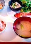 紅鮭の和朝食献立