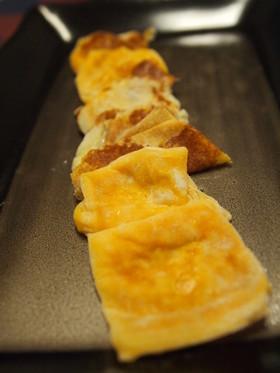 とろけるチーズで★簡単チーズせんべい♪