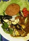 チキンベースの焼き野菜のカレー