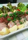 簡単☆サッパリ豆腐の肉巻き梅ソース♪