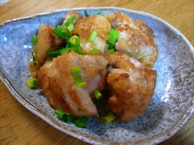 食べ過ぎ注意☆鶏肉のねぎマヨポン炒め