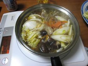 料理のための清酒を使った鶏ごぼう鍋♪