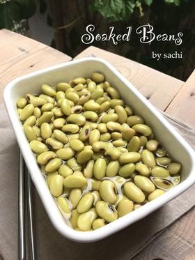 青大豆から作る浸し豆