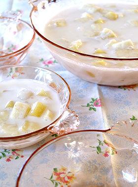 白玉とマンゴー in ココナッツミルク