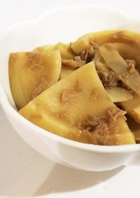 麺つゆで簡単に☆タケノコとツナの煮物