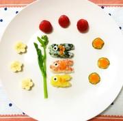 節句お祝い 鯉のぼり 離乳食プレートの写真