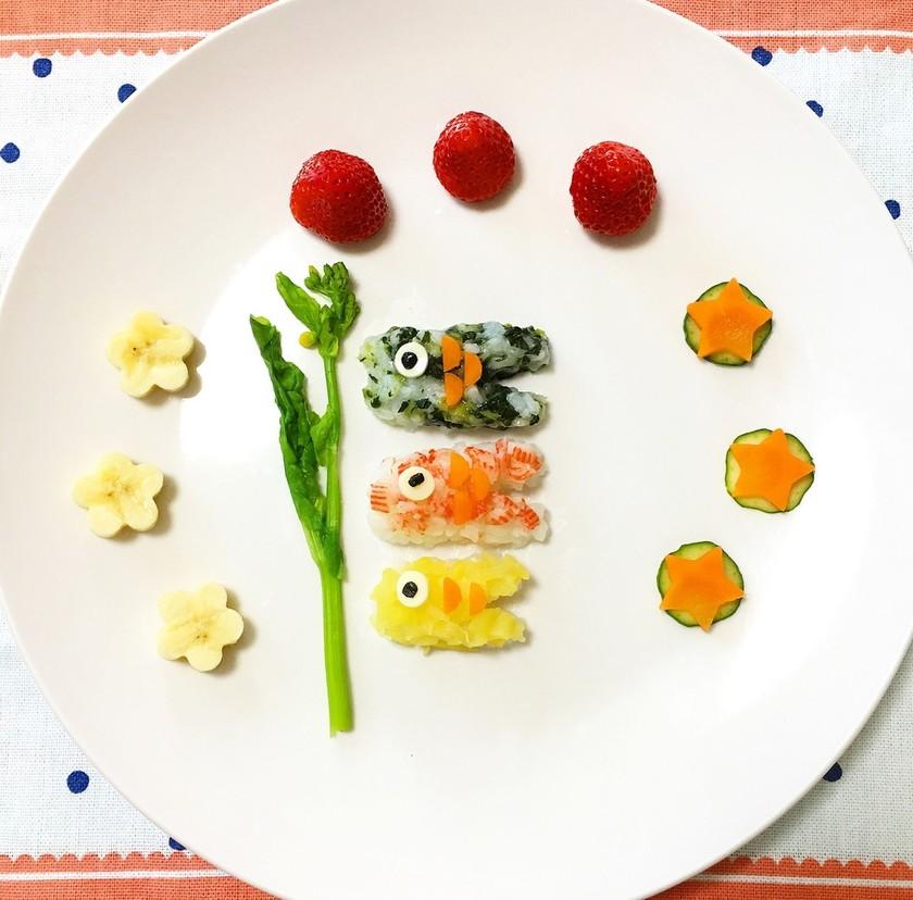節句お祝い 鯉のぼり 離乳食プレート