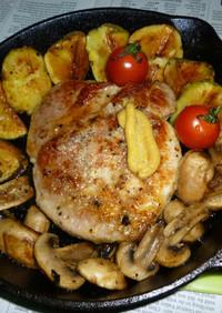 イシスキで豚ロースの厚切り肉ステーキv2