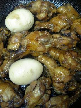 鶏手羽の親子煮