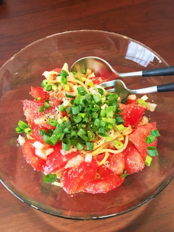 【簡単】旦那大絶賛の冷製トマトパスタ♡