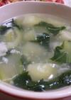 青梗菜とズワイ蟹缶の簡単スープ♪