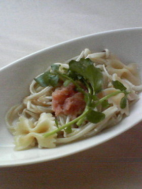 低炭水化物♬えのき麺のたらこスパゲッティ