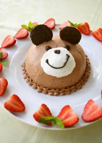 子供の日やお誕生日に*くまさんケーキ*