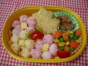 1歳児のお弁当~お花のお弁当☆