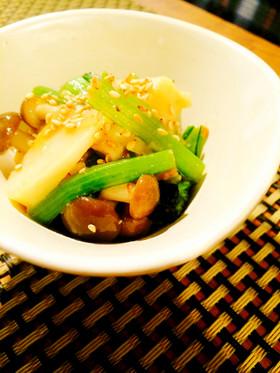 【10分】簡単*筍と小松菜の山葵味噌和え