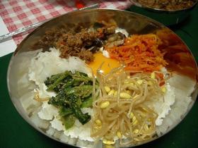 ♪5色ナムルでビビンバ丼♪