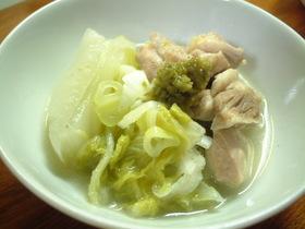 鶏・白菜の体ぽっかぽか煮