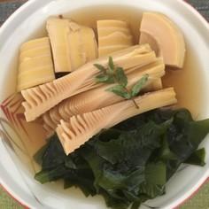 旬の筍の下処理と若竹煮
