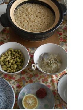 土鍋で玄米ご飯いかがですか?