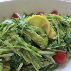 アボカド水菜のレモンわさび醤油サラダ