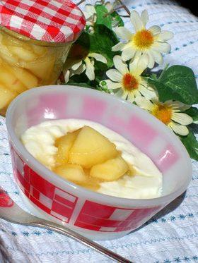 我が家の定番♪メープル風味のりんご煮