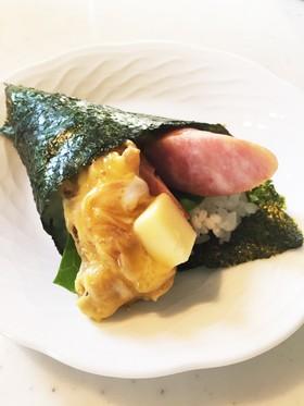 朝食みたいな手巻き寿司