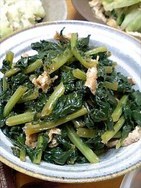 めんつゆで簡単◎大根葉の炒め煮