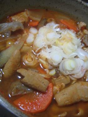 芯から暖まる☆激ウマ♪ピリ辛韓国風モツ煮