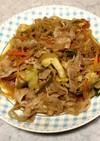 焼肉のタレ&ポン酢の豚バラ野菜炒め