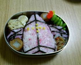 デジアイス弁当 (ポケモンキャラ弁)