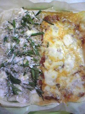 マルゲリータとシラスの和風ピザ2種