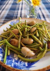 ニンニクの芽とウインナーの炒め物