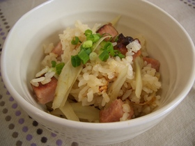 焼豚とごぼうの炊き込み御飯