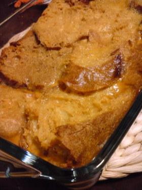 残ったパンが美味しく変身☆パンプディング