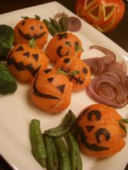 ハロウィンの手毬寿司の写真