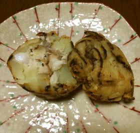 ジャガイモに鯛入り天ぷら