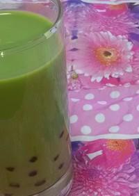 もちもちで可愛い♪タピオカ抹茶ミルク