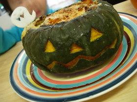 ハロウィーンにぴったり!かぼちゃグラタン