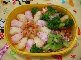 1歳児のお弁当~大きなお花☆~