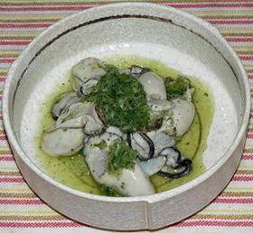 牡蠣の大葉おろし和え