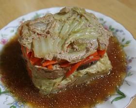 レンジで簡単!豚挽き肉と白菜の重ね蒸し